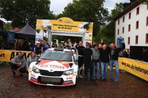 Dominik Dinkel / Christina Kohl, ŠKODA FABIA R5, Brose Motorsport. Rallye Niedersachsen 2017