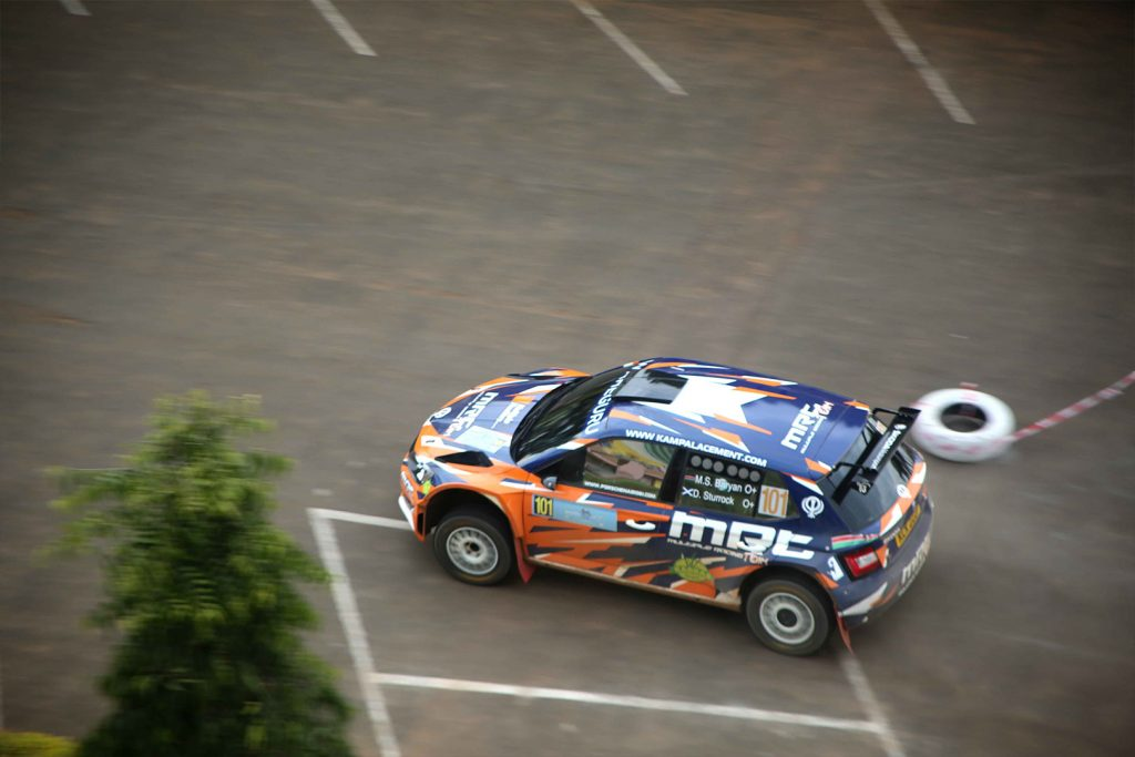 Manvir Singh Baryan / Drew Sturrock, ŠKODA FABIA R5, Multiple Racing Team. Rwanda Mountain Gorilla Rally 2017 (Foto: Kigali today)