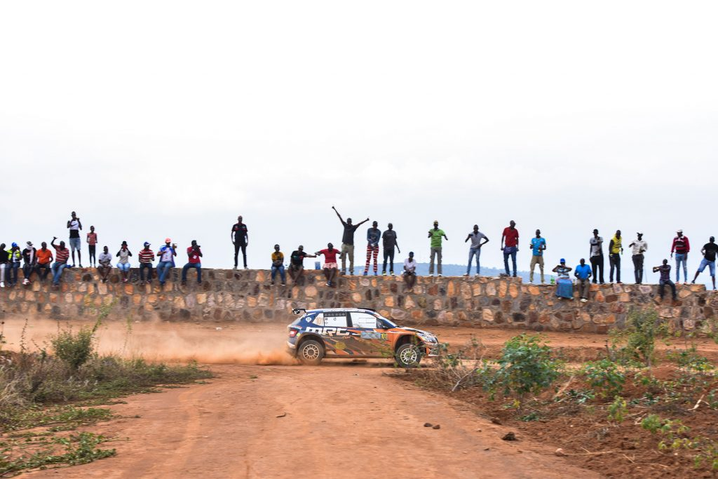 Manvir Singh Baryan / Drew Sturrock, ŠKODA FABIA R5, Multiple Racing Team. Rwanda Mountain Gorilla Rally 2017 (Photo: Kigali today)
