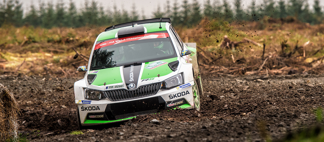 Three ŠKODA crews in WRC2 at Wales Rally GB  Veiby and Nordgren alongside champion Tidemand