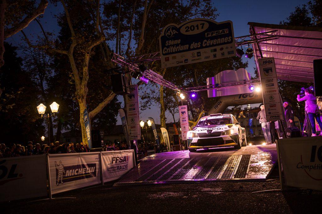 Charles Martin / Matthieu Duval, ŠKODA FABIA R5, RTTC – Yacco. Critérium des Cévennes 2017