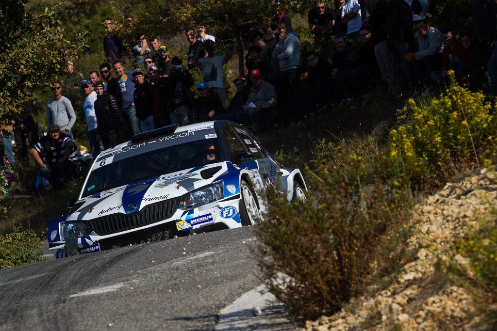 Jean-Matthieu Leandri / Anthony Gorguilo, ŠKODA FABIA R5. Finale de la Coupe de France des Rallyes Marseille 2017