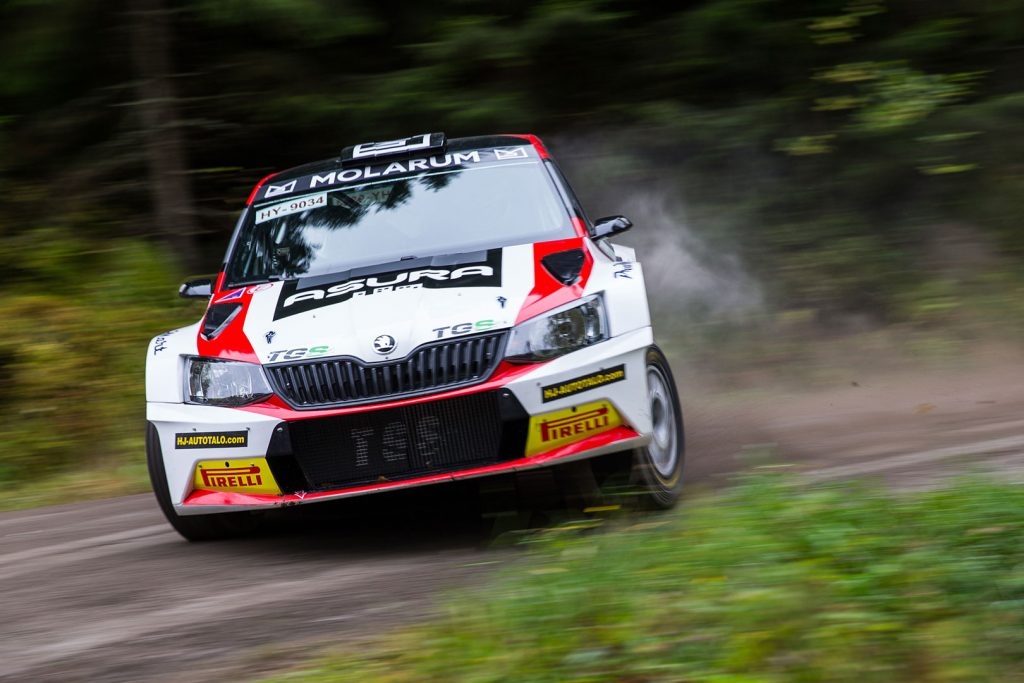 Eerik Pietarinen / Juhana Raitanen, ŠKODA FABIA R5, TGS Worldwide OU. Lake City Rally 2017