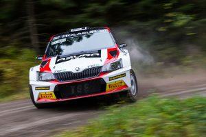 Eerik Pietarinen / Juhana Raitanen, ŠKODA FABIA R5, TGS Worldwide OU. Lake City Rally 2017