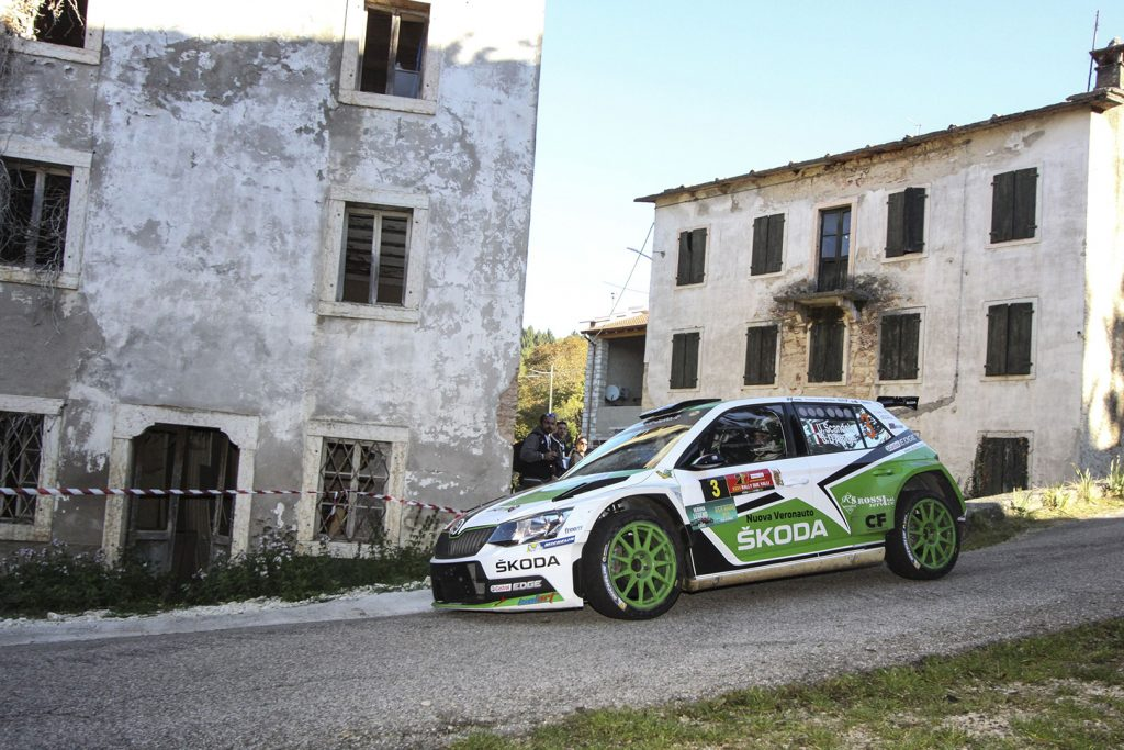 Umberto Scandola / Guido D'Amore, ŠKODA FABIA R5, Car Racing. Rally Due Valli 2017