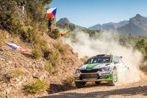 Juuso Nordgren / Tapio Suominen, ŠKODA FABIA R5, ŠKODA Motorsport. RallyRACC Catalunya - Costa Daurada 2017