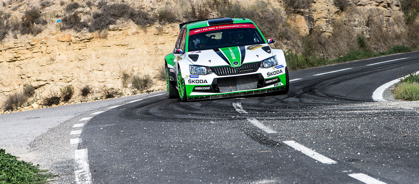 WRC Spain: ŠKODA teams with trouble free run Kopecký second and Nordgren fourth in WRC2