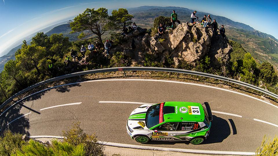 Jan Kopecký / Pavel Dresler, Juuso Nordgren / Tapio Suominen, ŠKODA FABIA R5, ŠKODA Motorsport. RallyRACC Catalunya – Costa Daurada 2017