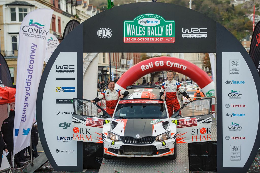 Łukasz Pieniążek / Przemysław Mazur, ŠKODA FABIA R5, Printsport Oy. Wales Rally GB 2017