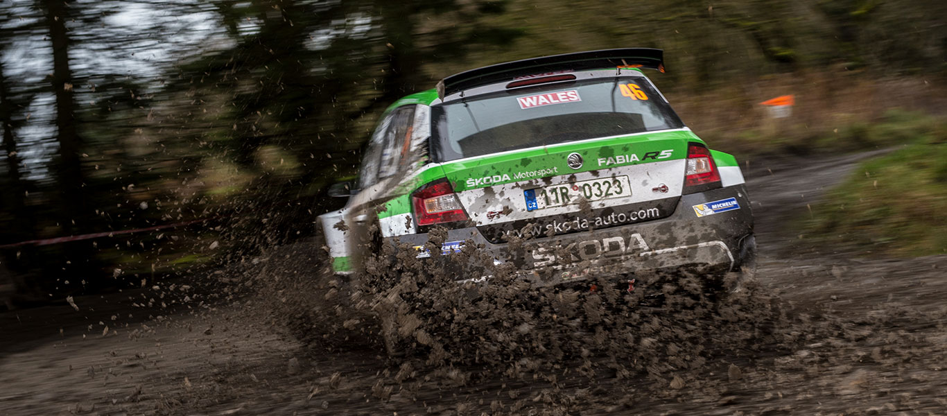 PHOTO: ŠKODA Motorsport at the Wales Rally GB 2017