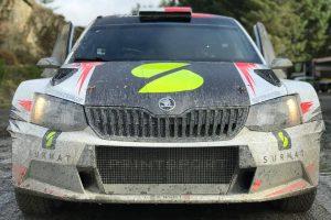 Łukasz Pieniążek / Przemysław Mazur, ŠKODA FABIA R5, Printsport Oy. Wales Rally GB 2017 Pre-event Test