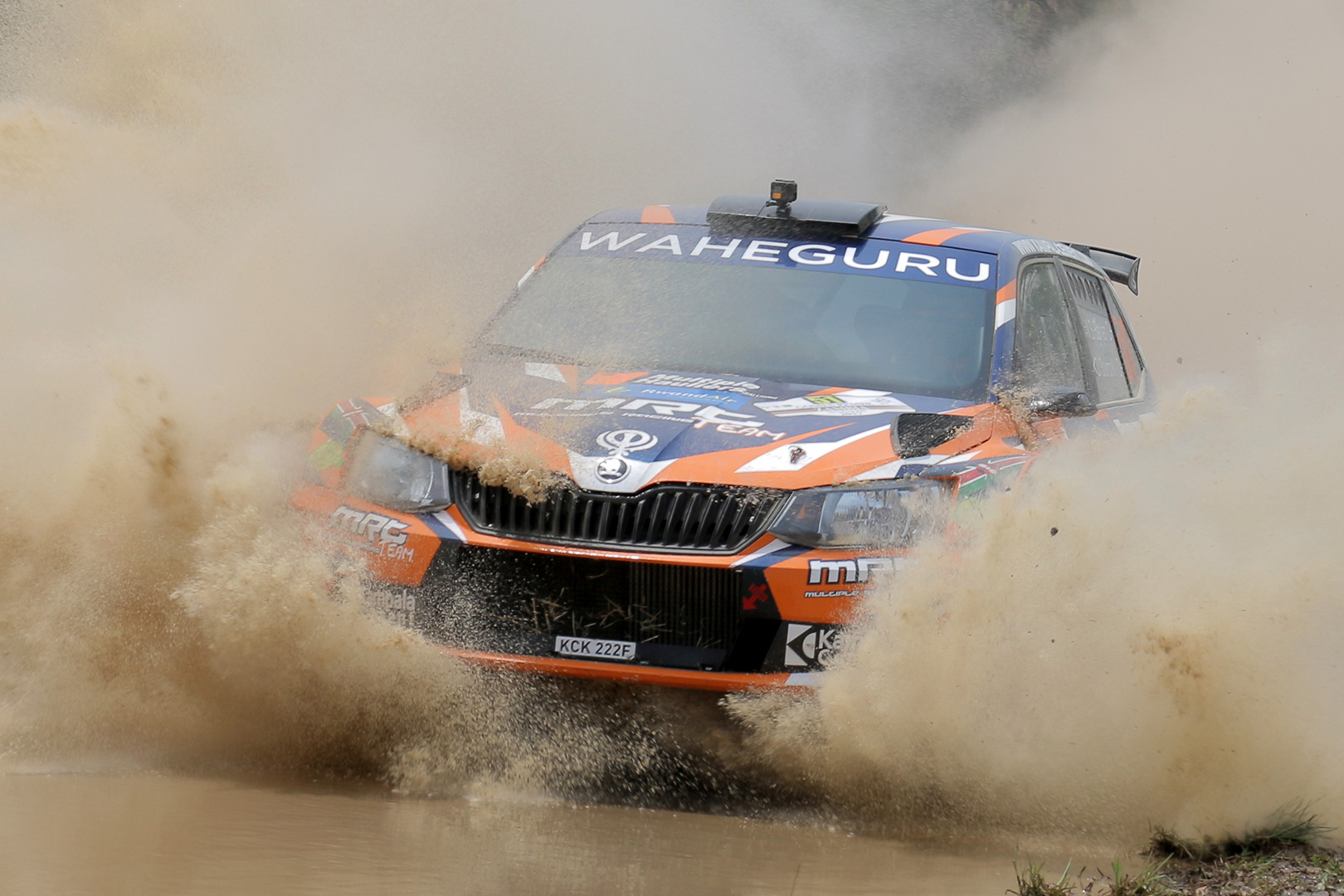 Manvir Baryan breaks new ground with back-to-back African Championship wins in a FABIA R5