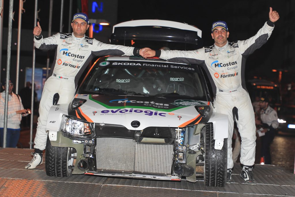 Pedro Meireles / Mário Castro , ŠKODA FABIA R5. Rallye Casinos do Algarve