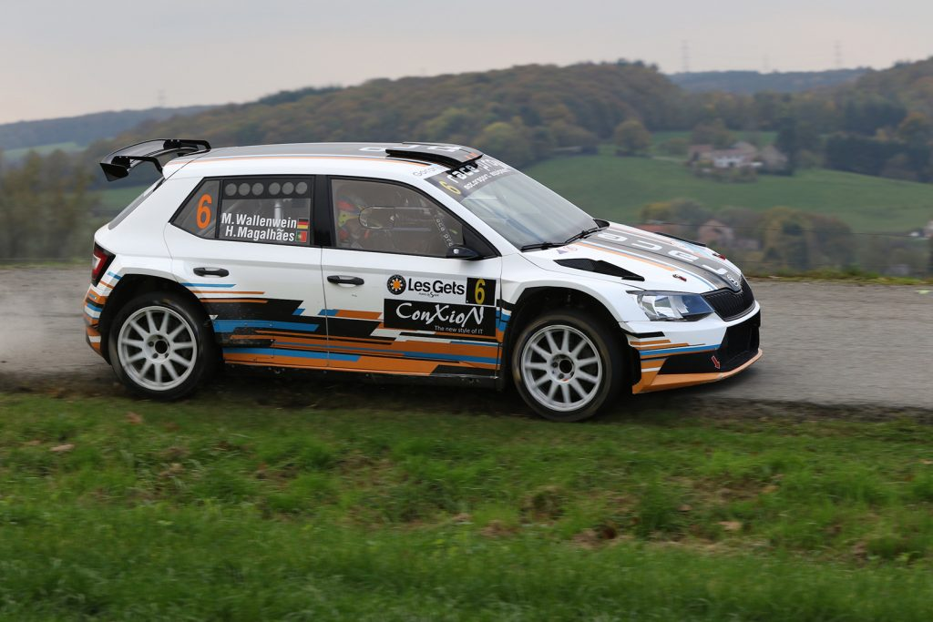 Mark Wallenwein / Hugo Magalhães, ŠKODA FABIA R5, race:pro motorsport. Rallye du Condroz-Huy 2017 (Photo: BRC Media)