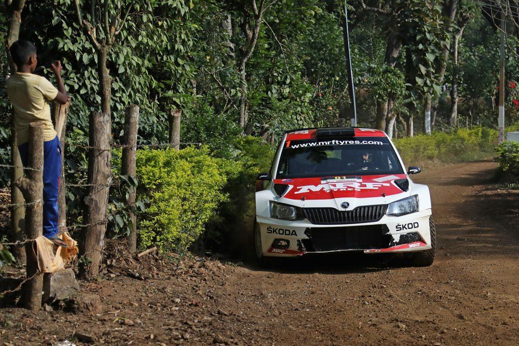 Gaurav Gill / Stéphane Prévot, ŠKODA FABIA R5, ŠKODA Team MRF. India Rally 2017