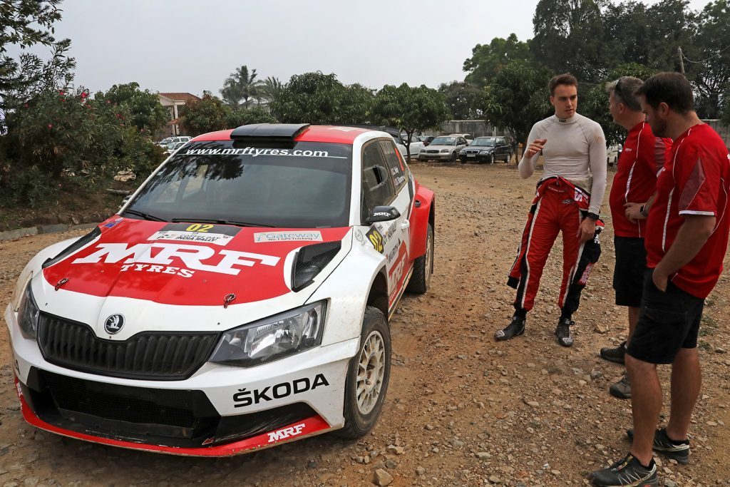 ŠKODA FABIA R5, ŠKODA Team MRF. India Rally 2017