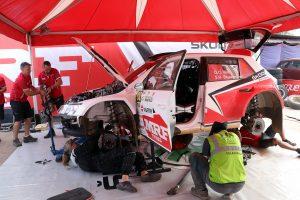 ŠKODA FABIA R5, ŠKODA Team MRF. India Rally 2017