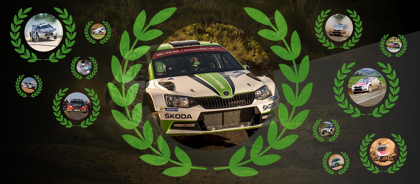 Šampioni 2017: Nejúspěšnější sezona v motoristickém sportu v historii značky ŠKODA