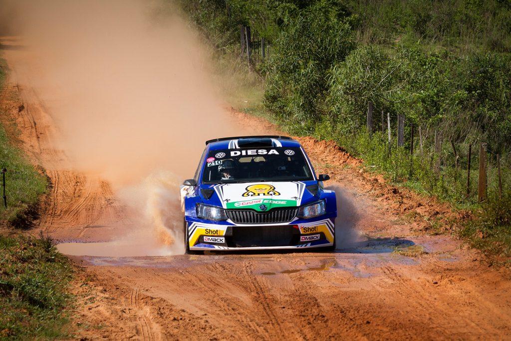 "Miguel ""Miki"" Zaldivar / Edgardo Galindo, ŠKODA FABIA R5. Rally Carapegua 2017"