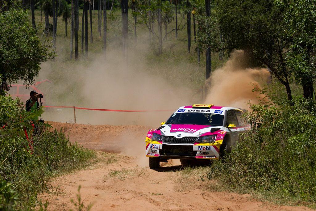 Gustavo Saba / Fernando Mussano, ŠKODA FABIA R5. Rally Carapegua 2017