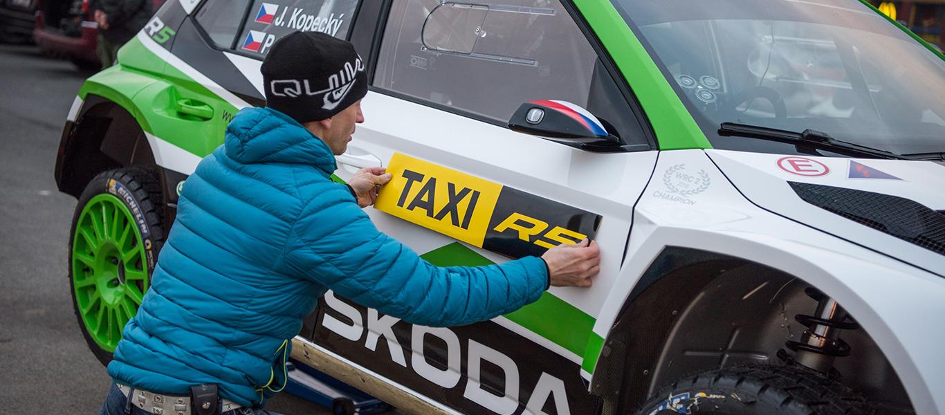 FABIA R5 Taxi. V zákulisí natáčení