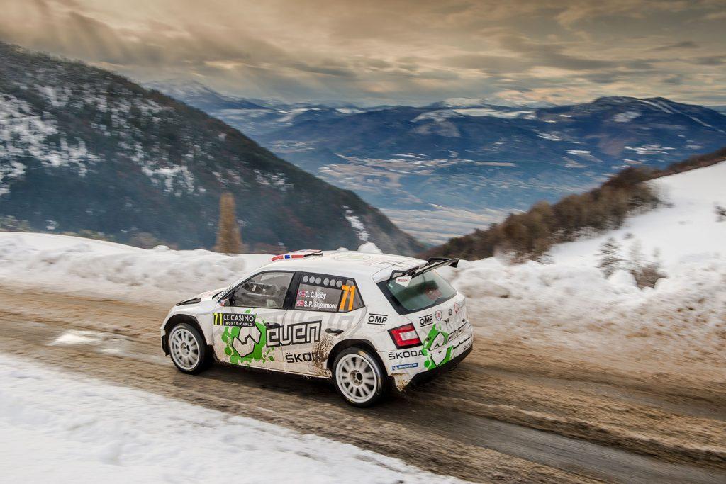 Ole Christian Veiby / Stig Rune Skjærmoen, ŠKODA FABIA R5. Rallye Monte Carlo 2018