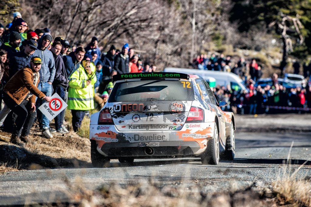 Olivier Burri / Anderson Levratti, ŠKODA FABIA R5. Rallye Monte Carlo 2018