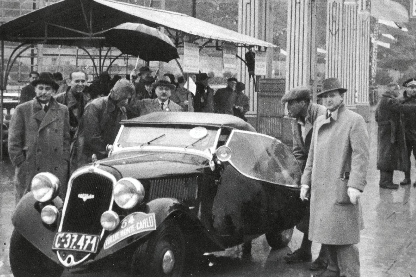 Zdeněk Pohl / Jaroslav Hausman, ŠKODA POPULAR SPORT. Rallye Monte Carlo 1936