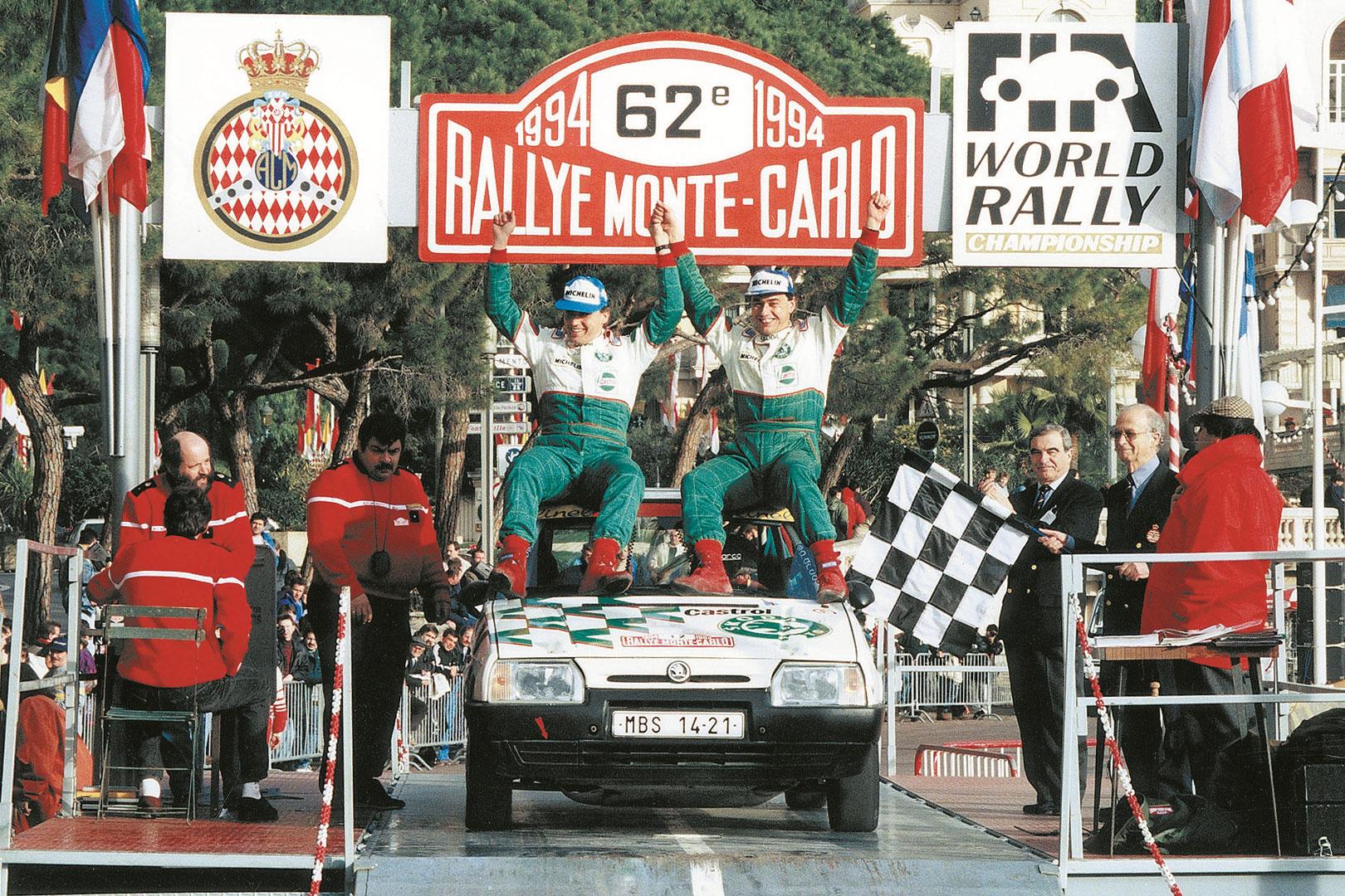 Pavel Sibera / Petr Gross, ŠKODA FAVORIT 136 L. Rallye Monte Carlo 1994