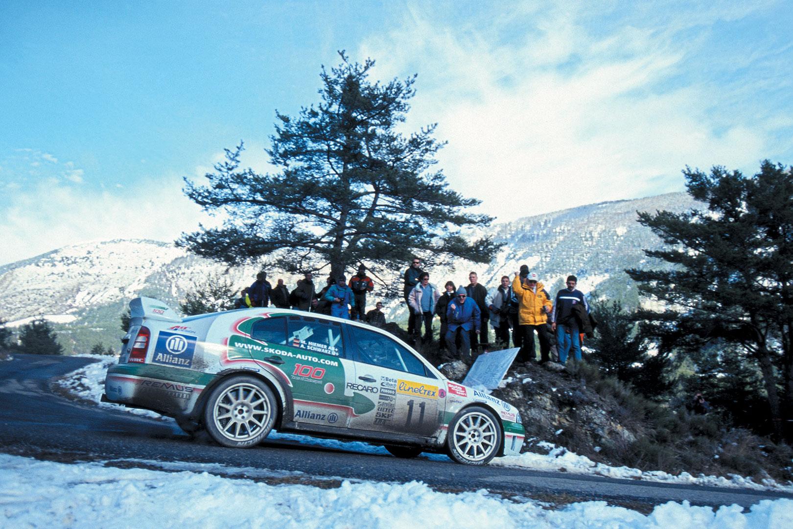 Armin Schwarz / Manfred Hiemer, ŠKODA OCTAVIA WRC. Rallye Monte Carlo 2001