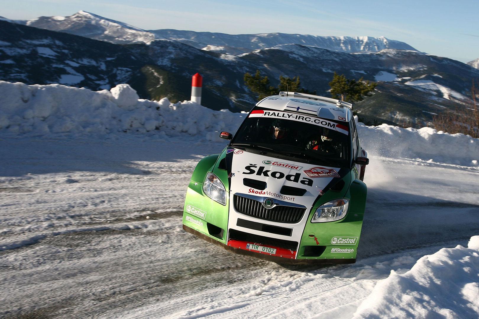 Juho Hänninen / Mikko Markkula, ŠKODA FABIA S2000. Rallye Monte Carlo 2010