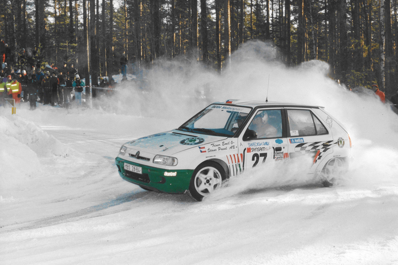 Emil Triner / Pavel Štanc, ŠKODA FELICIA KIT CAR, ŠKODA Motorsport. Rally Sweden 1995