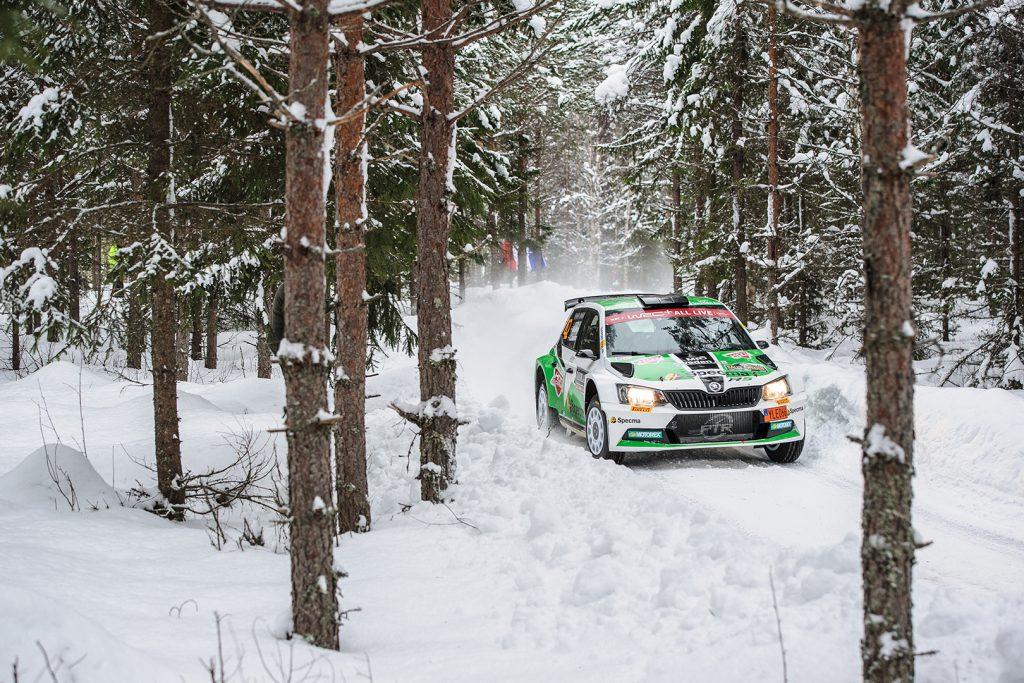 Mattias Adielsson / Andreas Johansson, ŠKODA FABIA R5. Rally Sweden 2018
