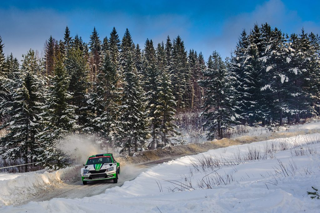 Pontus Tidemand / Jonas Andersson, ŠKODA FABIA R5, ŠKODA Motorsport. Rally Sweden 2018