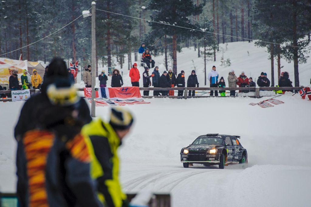 Luca Hoelbling / Mauro Grassi, ŠKODA FABIA R5. Rally Sweden 2018