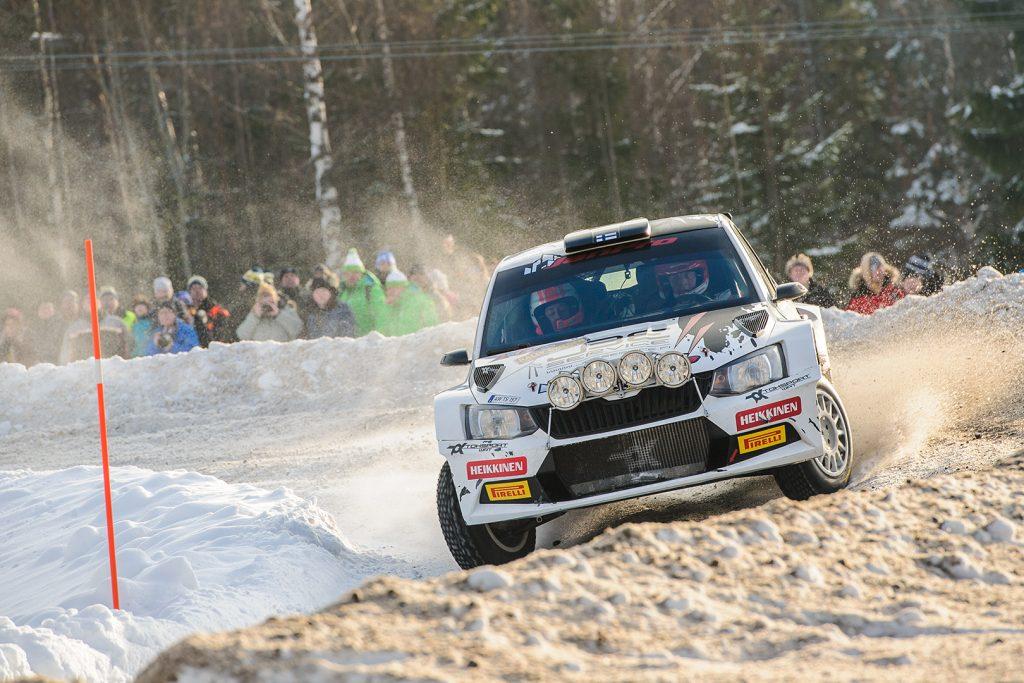 Janne Tuohino / Reeta Hämäläinen, ŠKODA FABIA R5, Toksport WRT. Rally Sweden 2018