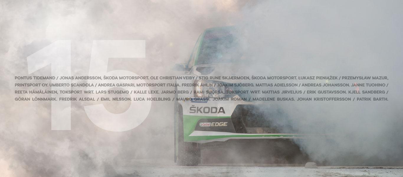 Na Švédskou rally míří rekordních patnáct posádek s vozy ŠKODA FABIA R5