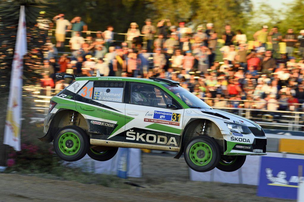 Pontus Tidemand / Jonas Andersson, ŠKODA FABIA R5, ŠKODA Motorsport. Rally Guanajuato Mexico 2018