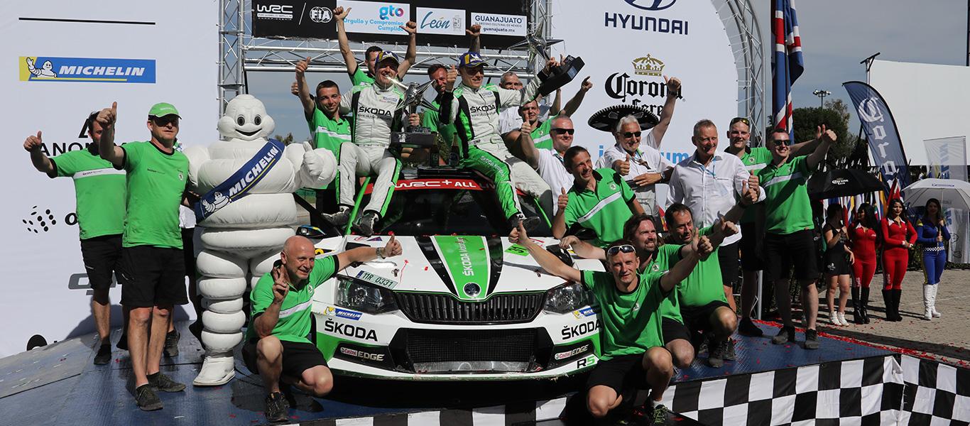 Mexická rally: Suverénní vítězství vyneslo Tidemanda do čela šampionátu WRC2