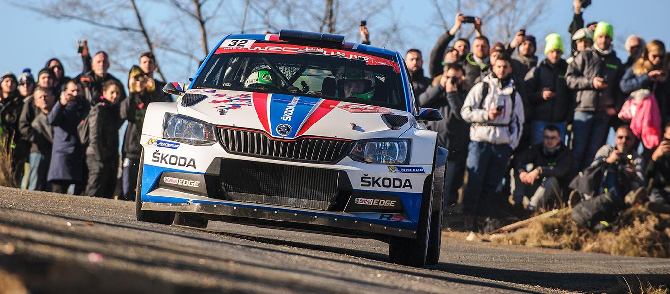Valašská Rally: Kopecký leads the ŠKODA charge in the 2018 Czech Rally Championship
