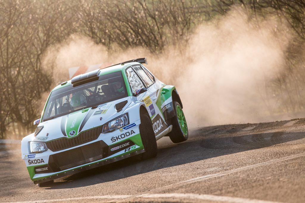 Ole Christian Veiby / Stig Rune Skjærmoen, ŠKODA FABIA R5, ŠKODA Motorsport. Valašská Rally 2018