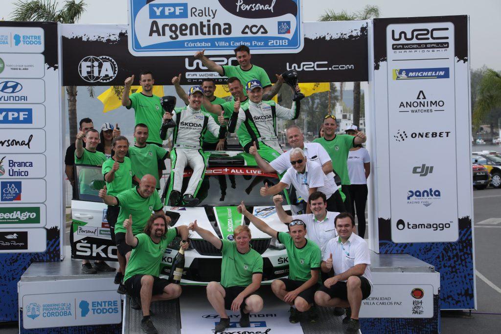 Pontus Tidemand / Jonas Andersson, ŠKODA FABIA R5, ŠKODA Motorsport. Rally Argentina 2018
