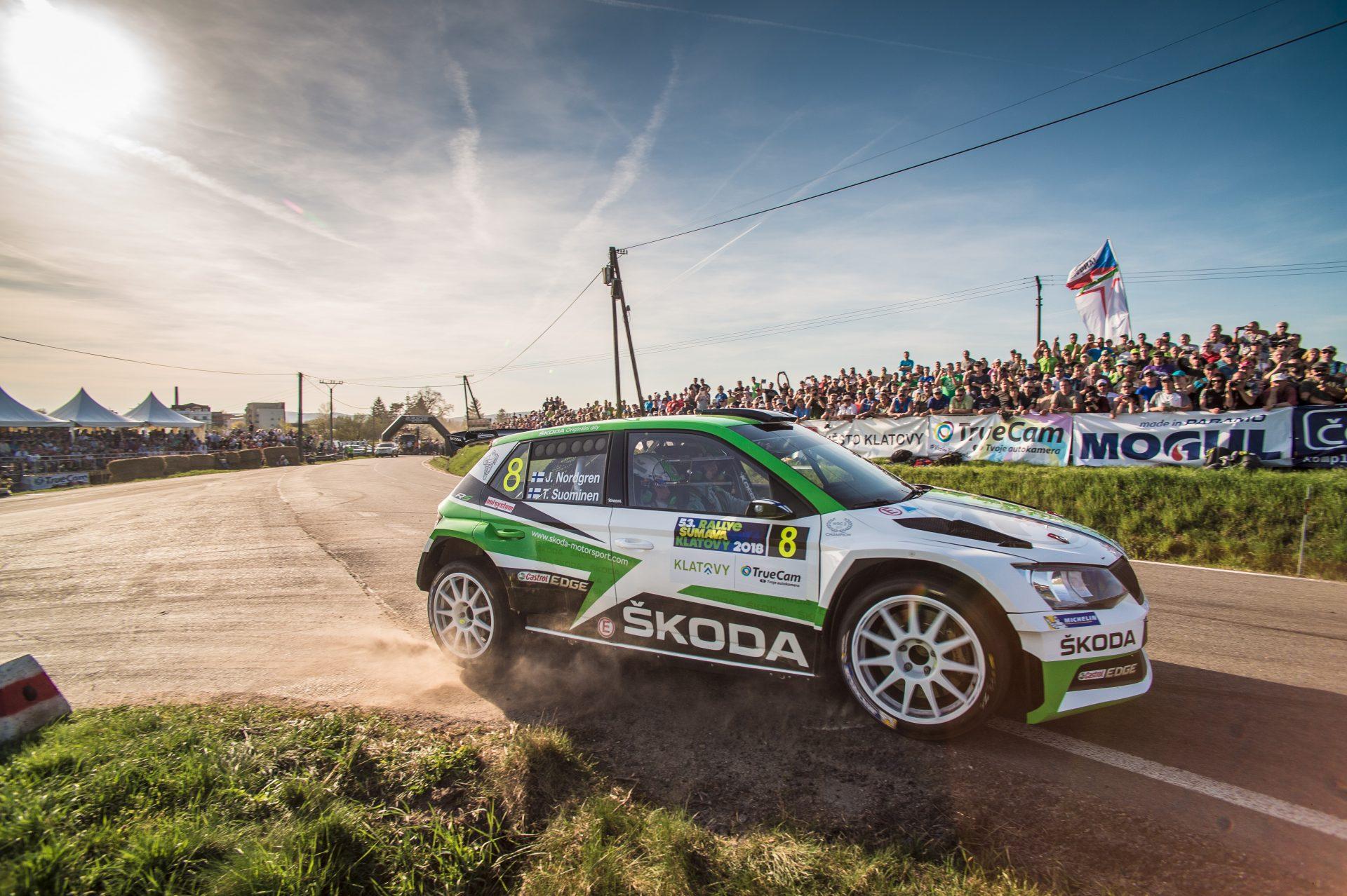 Rally Šumava is On: Both FABIA R5s on the Podium! Kopecký 1st, Nordgren 3rd