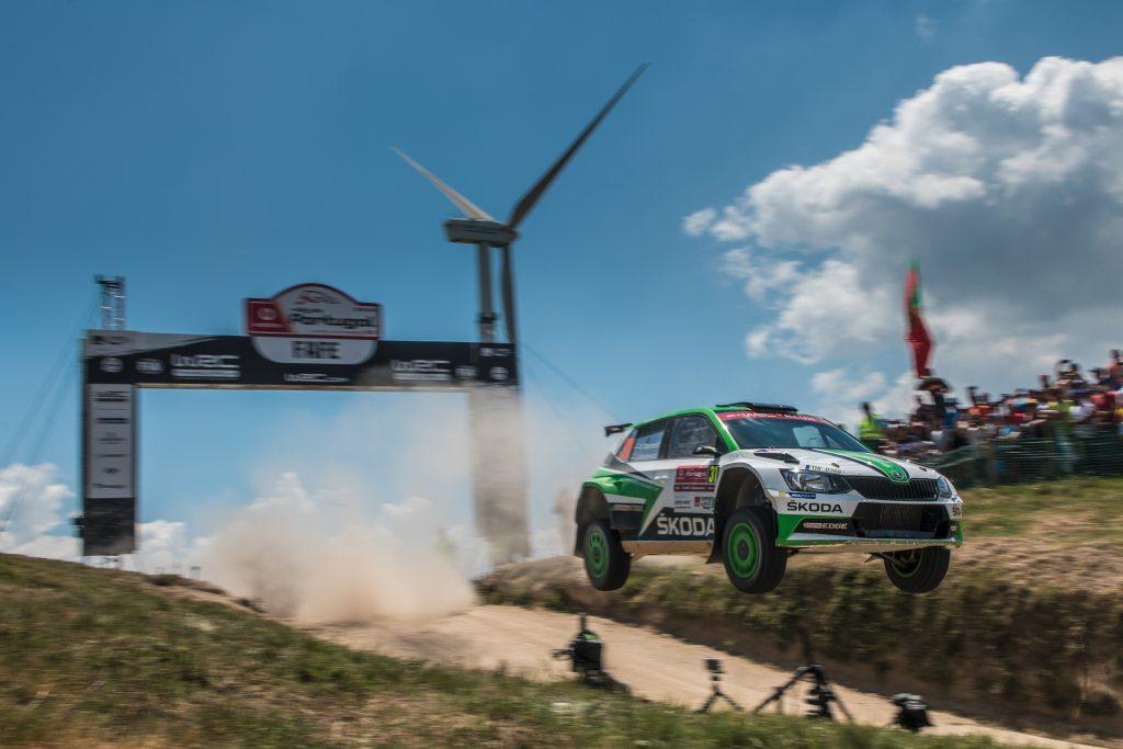 Pontus Tidemand / Jonas Andersson, ŠKODA FABIA R5, ŠKODA Motorsport. Rally de Portugal 2018