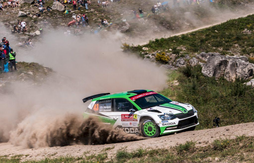 Juuso Nordgren / Tapio Suominen, ŠKODA FABIA R5, ŠKODA Motorsport. Rally de Portugal 2018