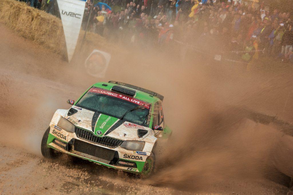 Ole Christian Veiby / Stig Rune Skjærmoen, ŠKODA FABIA R5, ŠKODA Motorsport. Rally Italia Sardegna 2018