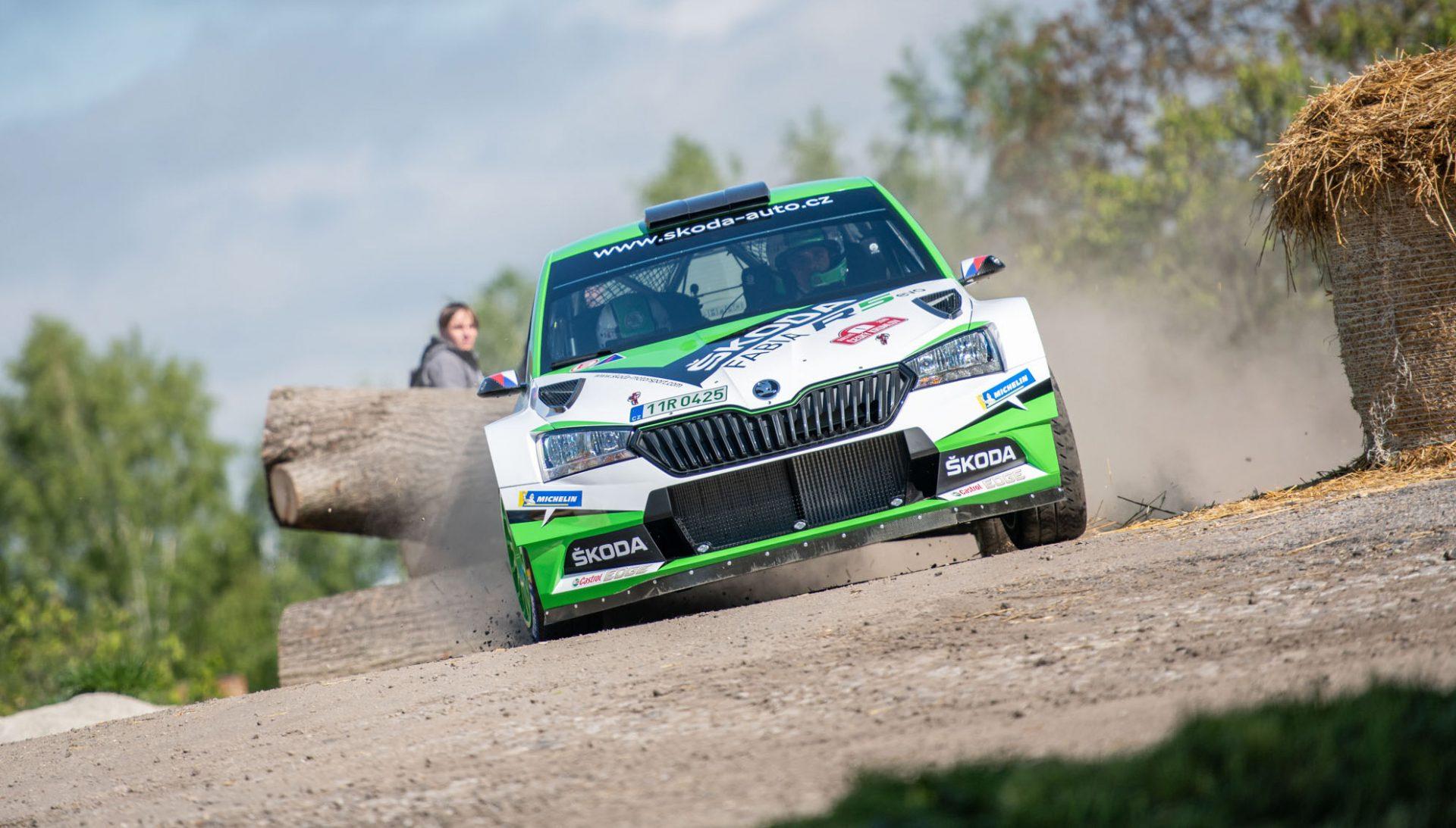 Kopecký vybojoval první vítězství s vylepšeným vozem FABIA R5