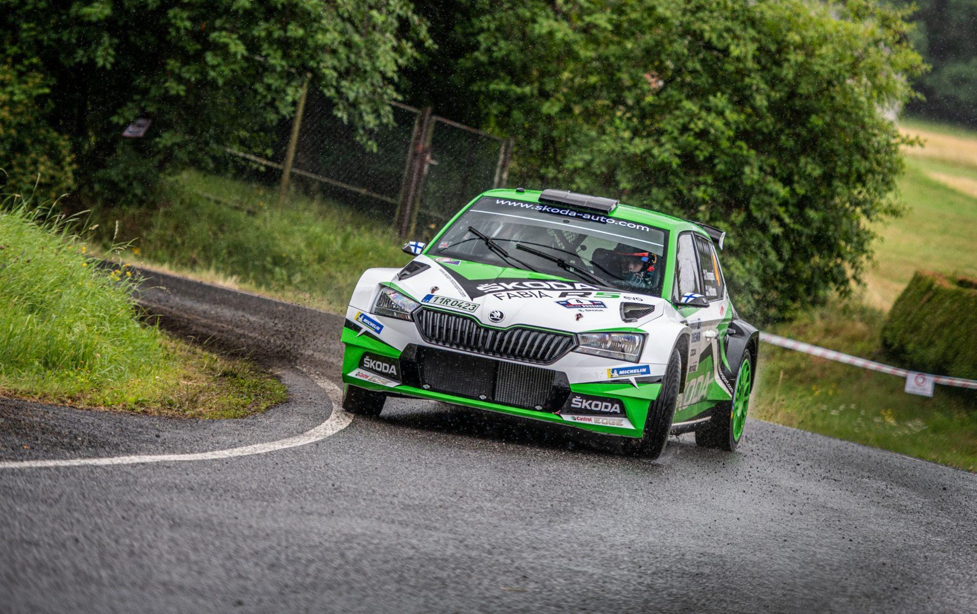 Kalle Rovanperä se stal nejmladším vítězem Rallye Bohemia