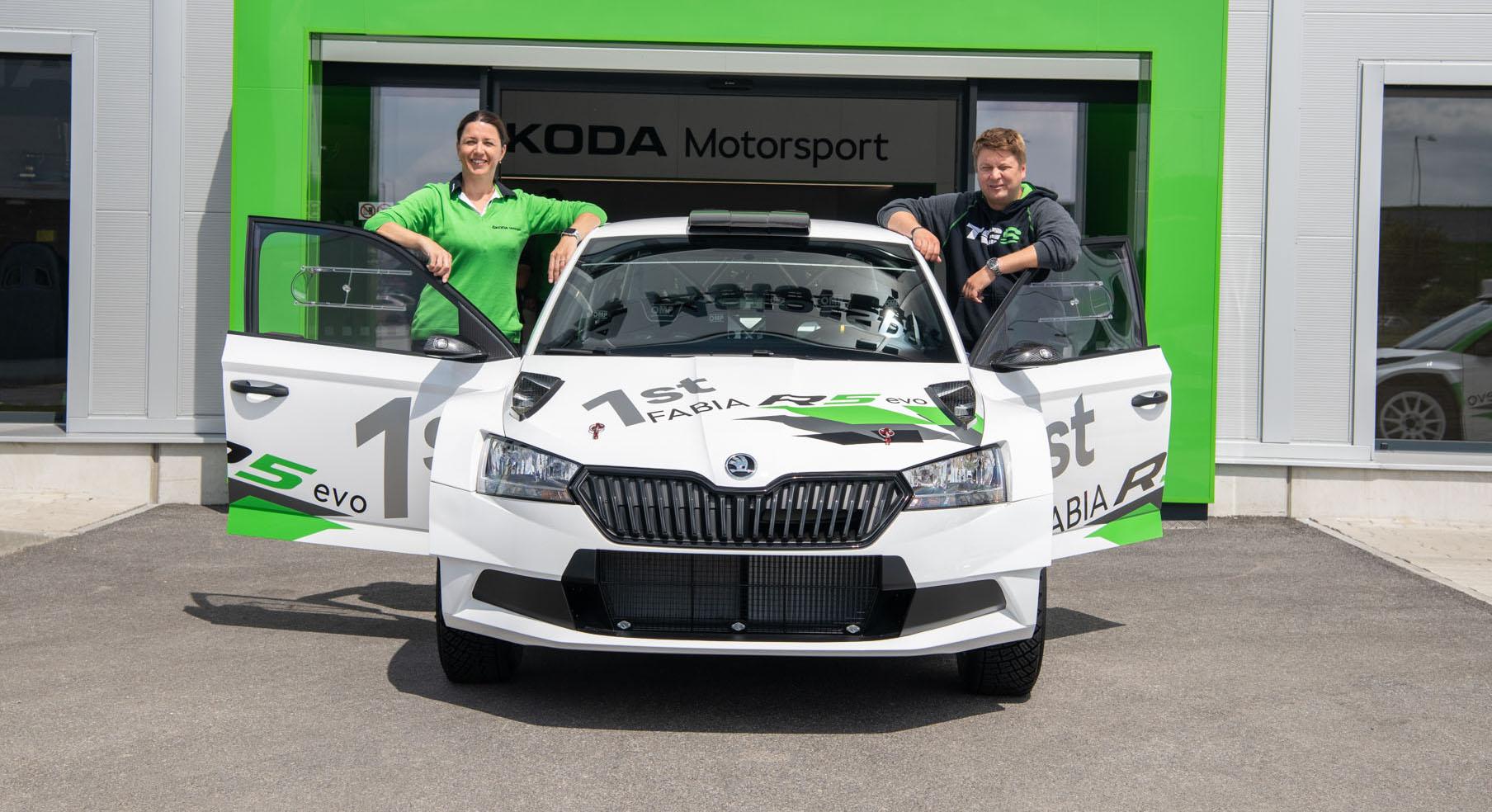 Toni Gardemeister took over the first FABIA R5 evo customer car
