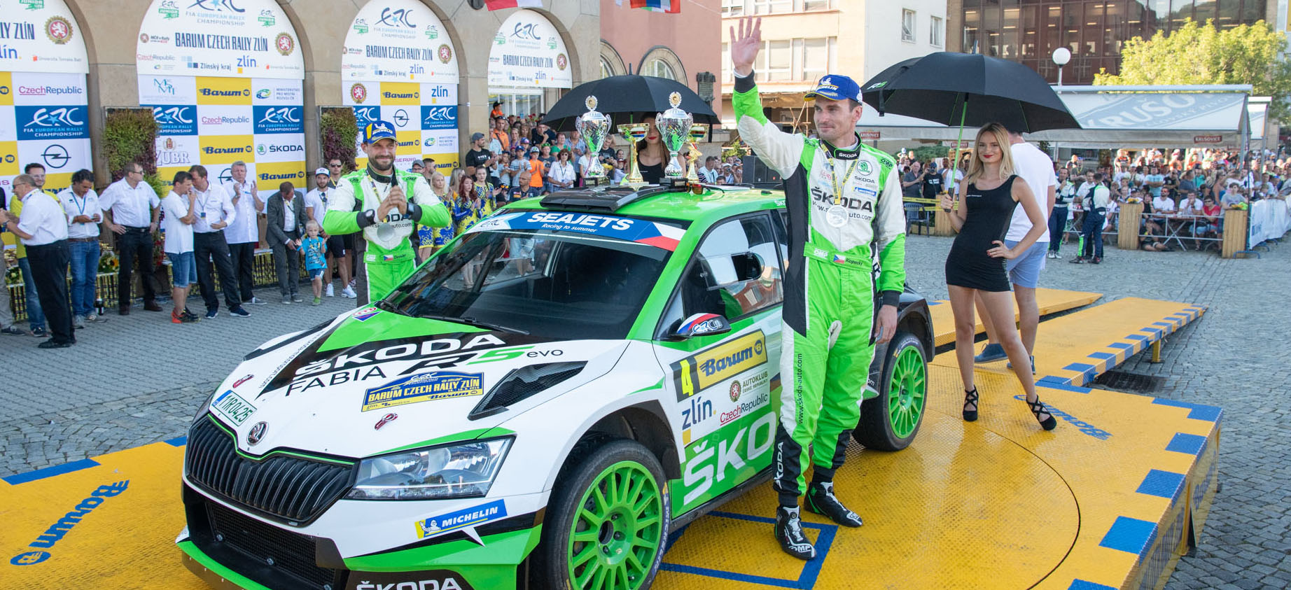 Jan Kopecký and Pavel Dresler are the Czech Rally Champions